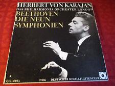 7lp BOX Karajan LE NOVE SINFONIE BEETHOVEN