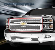 2014-2015 Chevy Silverado 1500 Stainless Steel Rivet Mesh Upper Grille Fedar