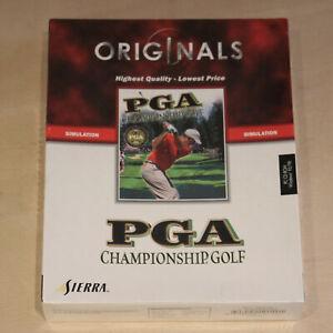 PGA Championship Golf PC Game - Sierra Simulation 1998 Big Box - New & Sealed
