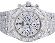 Mens Audemars Piguet Royal Oak Chrono Stainless Steel 39MM Diamond Watch 27.75Ct