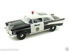 1:18 Highway 61 1957 Chevy Bel Air Police Car