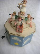 Wendt & Kühn Spieluhr mit Kurbel und Spielwerk Erzgebirge Engelkapelle music box