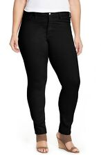 NYDJ 'Alina' Colored Stretch Skinny Jeans Leggings W38F11DT4020 Black Size 18W