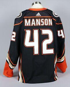 2019-20 Josh Manson Anaheim Ducks Game Worn Home Black Jersey Set 3