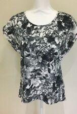 Portmans Day Wear Business Corporate Black And White Top Size 10