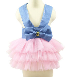 Pet Puppy Small Dog Lace Princess Tutu Dress Skirt Clothes Apparel for Yorkie