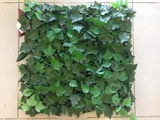 "32 ARTIFICIAL IN/OUTDOOR UV Englsh Ivy = 40x40"" MAT PATIO HEDGE GRASS FAKE FENCE"