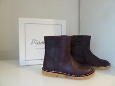 Pinocchio Kinder Schuhe Mädchen Stiefel Leder lila P1603-000 Gr.24 NEU