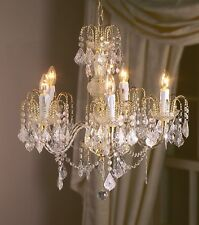Chandelier 24inch(60cm) Regal 5 Light Marie Theresa Crystal Effect Fitting -Gold
