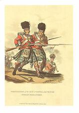 WELLINGTONS ARMY MILITARY UNIFORM PRINT ~ GRENADIERSOF XLII GORDON HIGHLANDERS