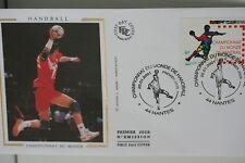 ENVELOPPE PREMIER JOUR SOIE 2001 HANDBALL CHAMPIONNAT DU MONDE