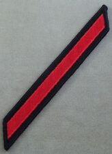 Us Navy Male All Embroidered Red On Black Service Stripes 4 Years