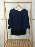Chico's Women's 3/4 Sleeve Light Pullover Top Blouse Size 0