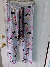 BETTY BOOP Gray Pajama Bottoms Drawstring Waist Size S (4-6) Women's EUC