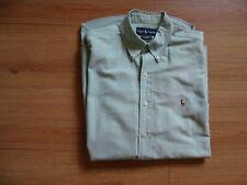 Ralph Lauren Yarmouth green Long Sleeved Shirt 15.5 Oxford Plain