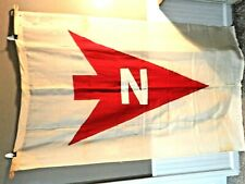 """Antique Flag Huge 45"""" x 72"""" Maritime Nautical Directional Norton Lilly Line"""