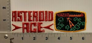1980's VIDEO GAME ASTEROID ACE VINTAGE EMBROIDERED PATCH