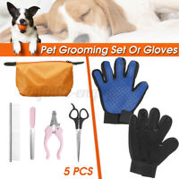 Touch Glove Gentle And Efficient Pet Dog Cat Massage Grooming Hair Scissors Set