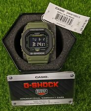 Casio G-Shock Militrary Green Water Resistant Digital Mens Watch - DW-5610SU-3CR