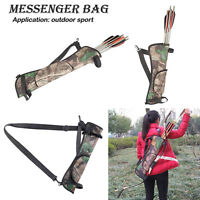 Oxford Target Hunting Archery Quiver Waist Bag Back Hip Arrow Bow Holder Pouch