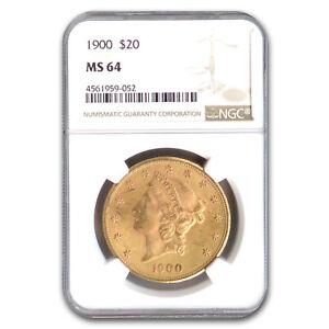 1900 $20 Liberty Gold Double Eagle MS-64 NGC - SKU#187589