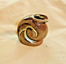 """Frankoma Prairie Green Small Snail Jug 1940's  Ada Clay   2"""" tall x 2"""" wide 9936"""