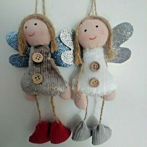 FAIRY ANGEL fabric hanging CHRISTMAS TREE DECORATION **choose design** NEW