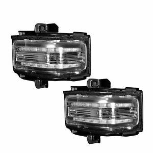 RECON 264245WHCLX Ford Superduty 17-18 F250 F350 F450 Clear-White Mirror Light