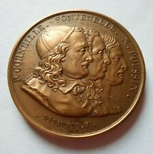 ROUEN ACADEMY OF SCIENCE, ART & LETTERS FRENCH MEDAL by DEPAULIS