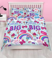 Jojo Siwa Dreams Double Duvet Cover Set Dance Girls Bows Rainbows 2 in 1 Design