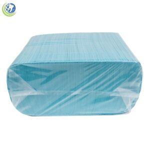 DISPOSABLE PATIENT BIBS FLUID RESISTANT DENTAL SURGICAL MEDICAL BLUE 500/BOX