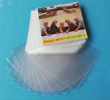 BUSTE PROTETTIVE ESTERNE per DISCHI 45 giri - POLIPROPILENE 90 micron 50 pezzi
