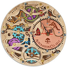Automaton Skeleton Gypsy wooden steampunk wall clock unique personalized gift
