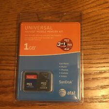 Universal Sandisk MicroSD Mobile Memory Kit 1GB Adaptor Store Music Photos Video
