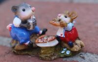 Wee Forest Folk: FairyTales - M-244 Possum's Pizza Party - SPECIAL COLOR - RARE