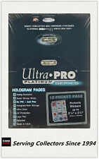 """Ultra Pro Platinum 12 Pocket Pages 2.5""""x2.25"""" Factory box(100)x 4- NRL stickers"""