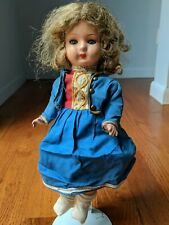 "Antique 13"" Hand Made German Doll Germany Sleepy Eyes Vtg Old Hans Volk"