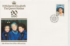 Unaddressed Isle of Man FDC First Day Cover 1990 Queen Mother 90th 10% off 5