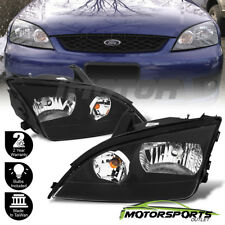 2005 2006 2007 Ford Focus Factory Style Black Headlights Left+Right Pair
