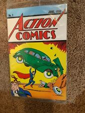 DC Comics Action Comics #1 June 1938 Superman Loot Crate Exclusive Reprint W/COA