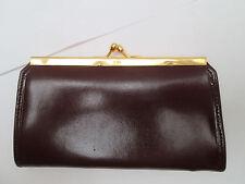 -AUTHENTIQUE porte-monnaie clipsé en cuir TBEG vintage
