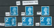 GB 2013 - Security Machin - Blue with different Source Codes - used - Cat £18+