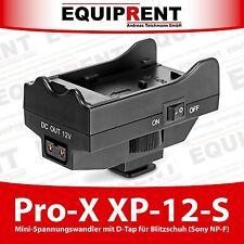 Pro-X XP-12-S Sony NP-F zu D-Tap Spannungswandler für Blitzschuh Montage (EQD69)
