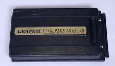 Vintage GRAFLEX 2 1/4 x 3 1/4 Graphic Model 2 Film Pack Adapter Camera Back USA