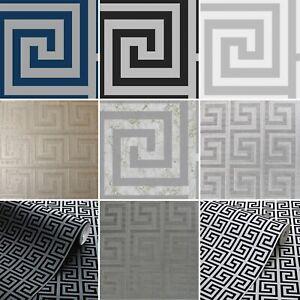 Debona Arthouse Greek Key Grey Wallpaper All types and Colours NEW 2021 Designs