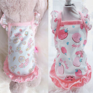 Sweet Cartoon Dog Clothes Small Dog Pet Cat Puppy Dress Chihuahua Teddy Apparel