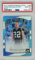 2017 Panini Donruss Optic #168 Christian McCAFFREY Holo Prizm  RC PSA Gem Mt 10