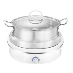 Kylin 2 in 1 Electric Hotpot Stainless Steel Steamer 4L AU-K2011