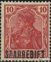 Saarland 33 postfrisch 1920 Germania mit Aufdruck