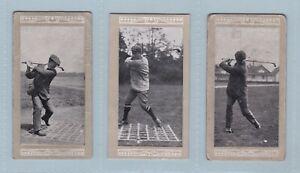 Golf Cards - Famous Golfers & Their Strokes (Marsuma Co.) - 3 Cards
